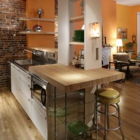 барная стойка в квартире декор фото