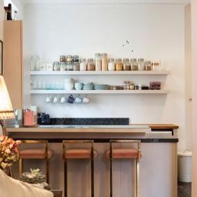 барная стойка в квартире фото оформление