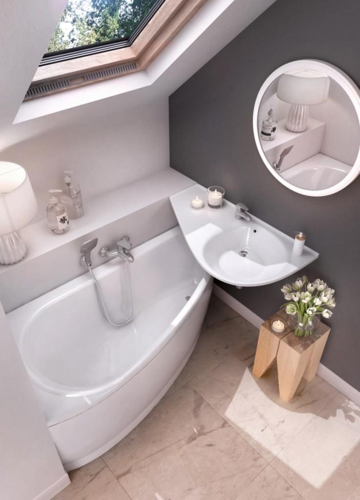 Акриловая ванна угловой конфигурации
