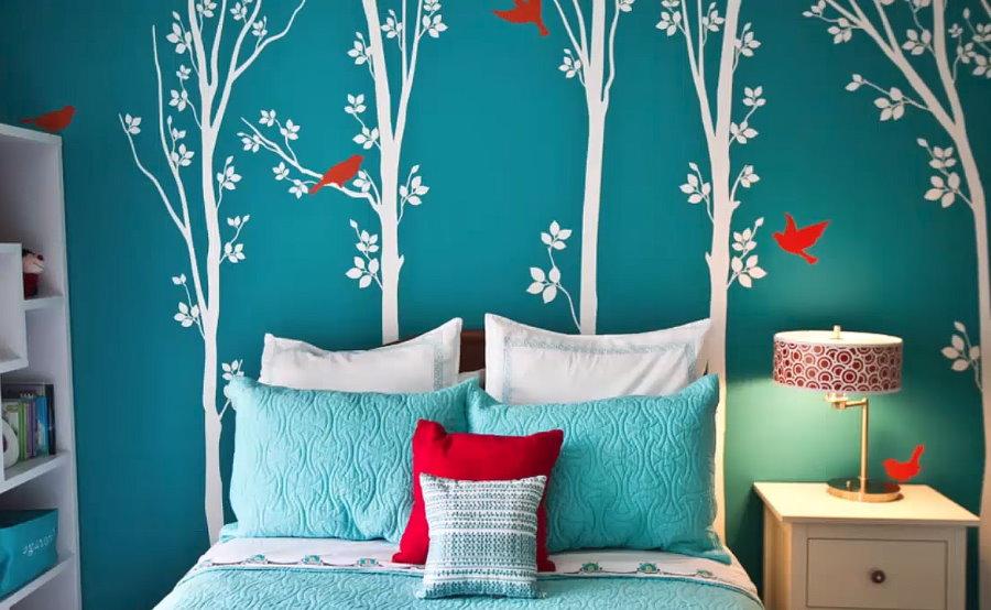 Декорирование стены детской комнаты своими силами