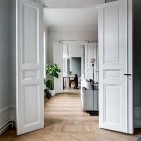 белые двери идеи интерьер
