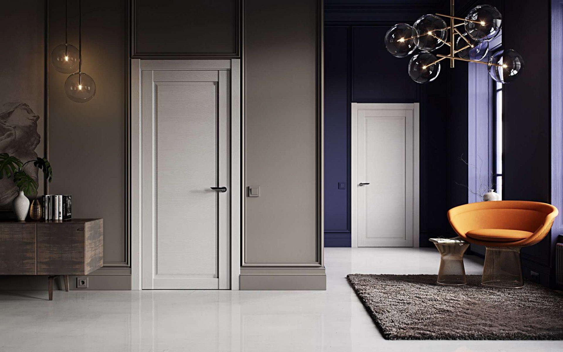 белые двери идеи оформления