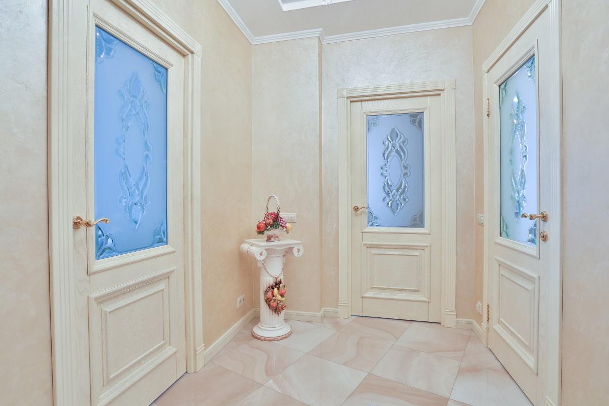 белые двери оформление фото