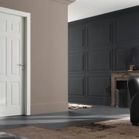белые двери в квартире декор фото