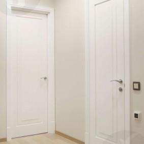 белые двери в квартире дизайн