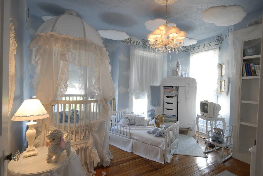 Детская комната для новорожденного младенца
