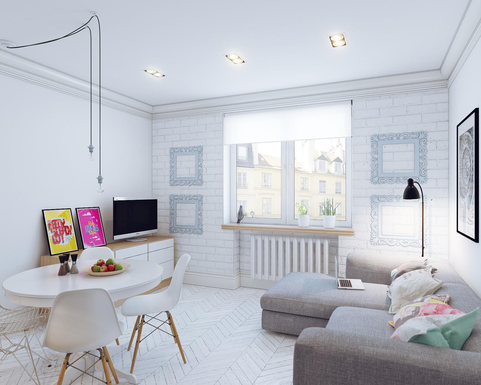 белый интерьер квартиры декор фото