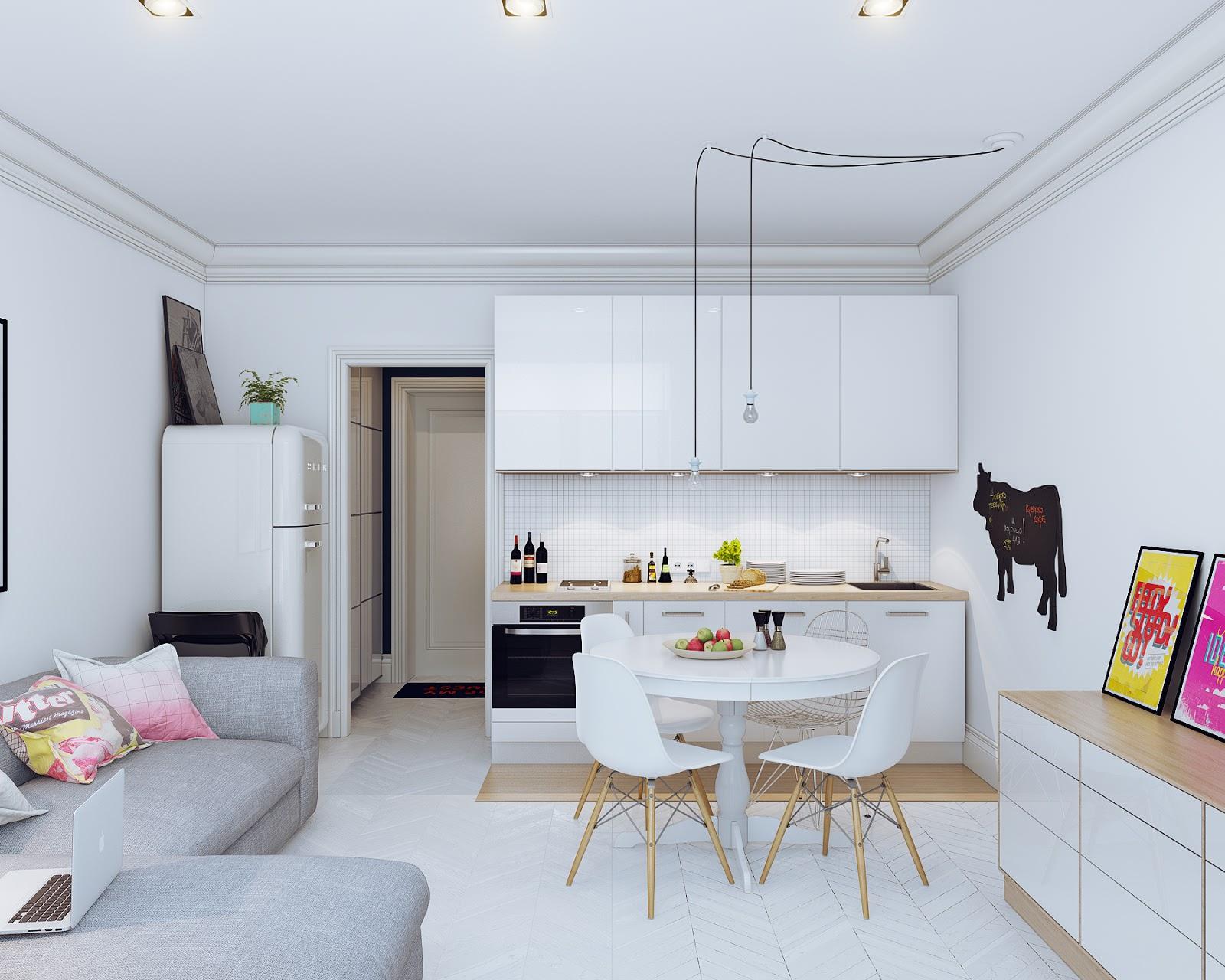 белый интерьер квартиры декор