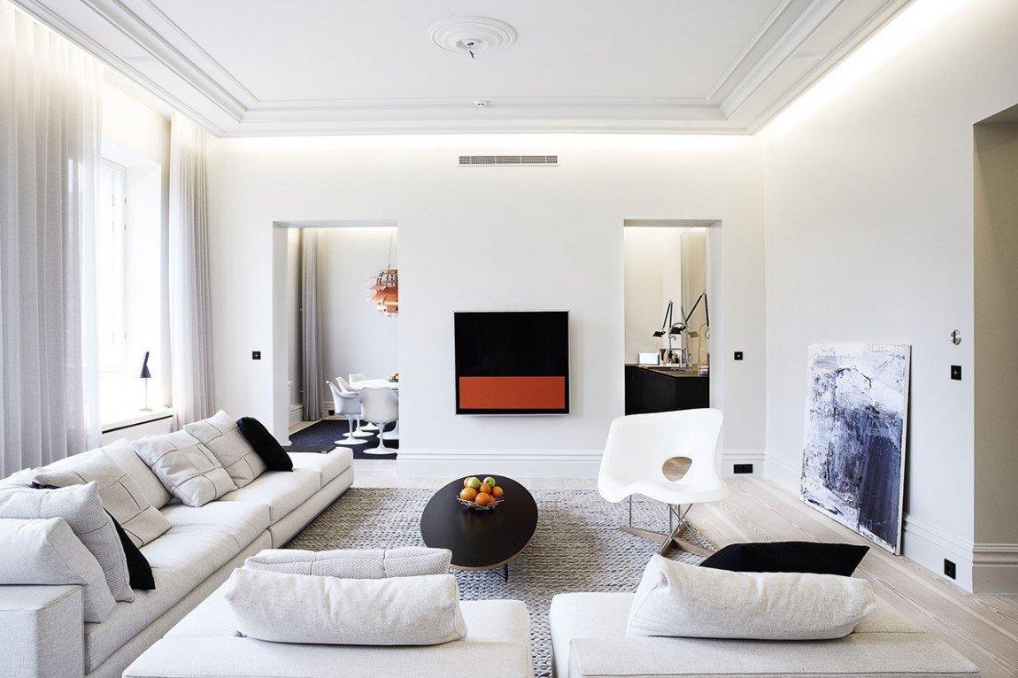 белый интерьер квартиры фото декора