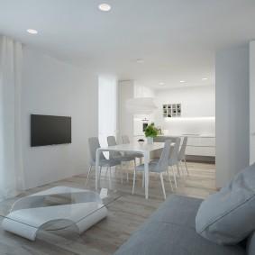 белый интерьер квартиры фото идеи