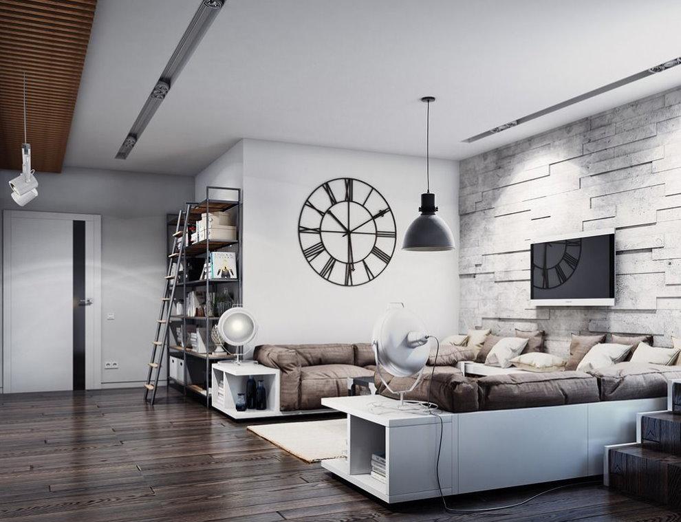 Белые корпуса диванов в стиле лофта