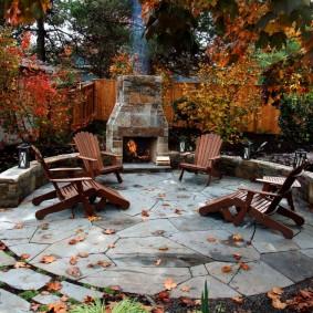 Осень в саду современного стиля