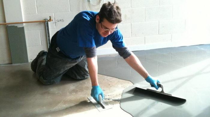 Устройство цементно-акрилового пола своими руками