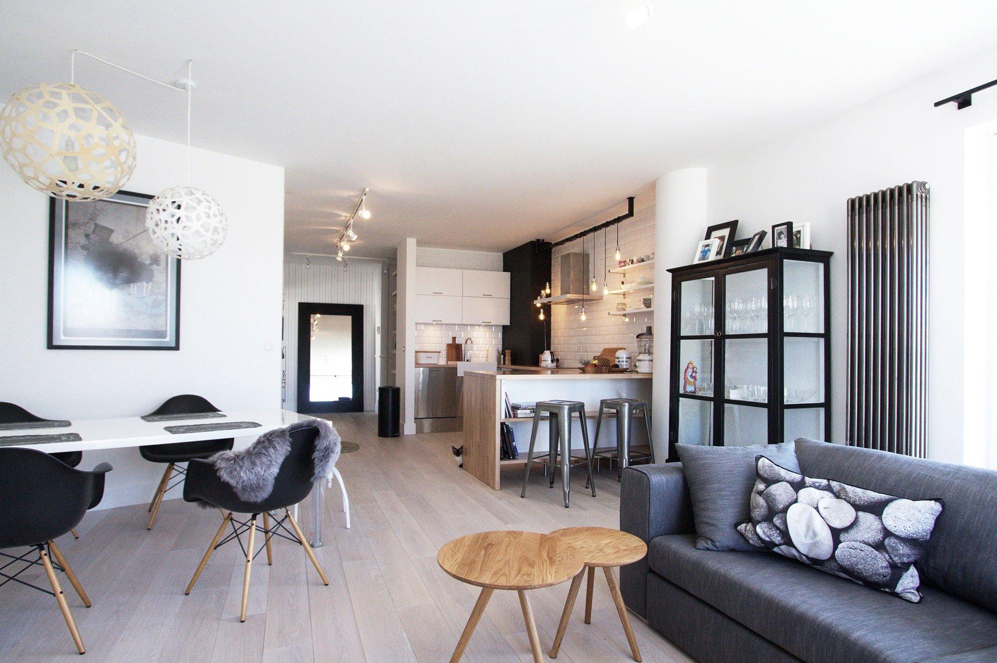 чёрно-белый интерьер квартиры