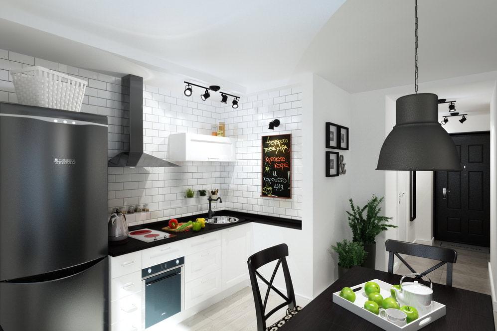 Дизайн компактной кухни в квартире площадью 33 кв метра