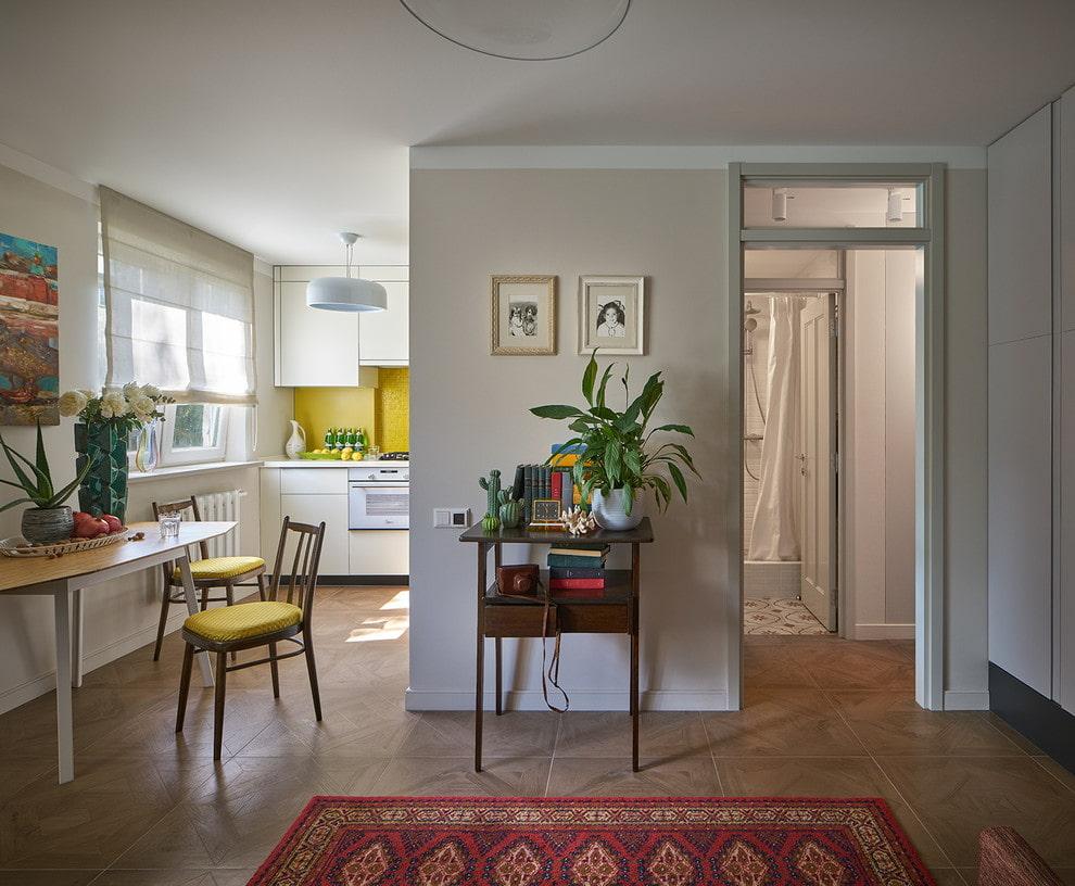 Дизайн квартиры площадью в 42 кв метра в стиле ретро