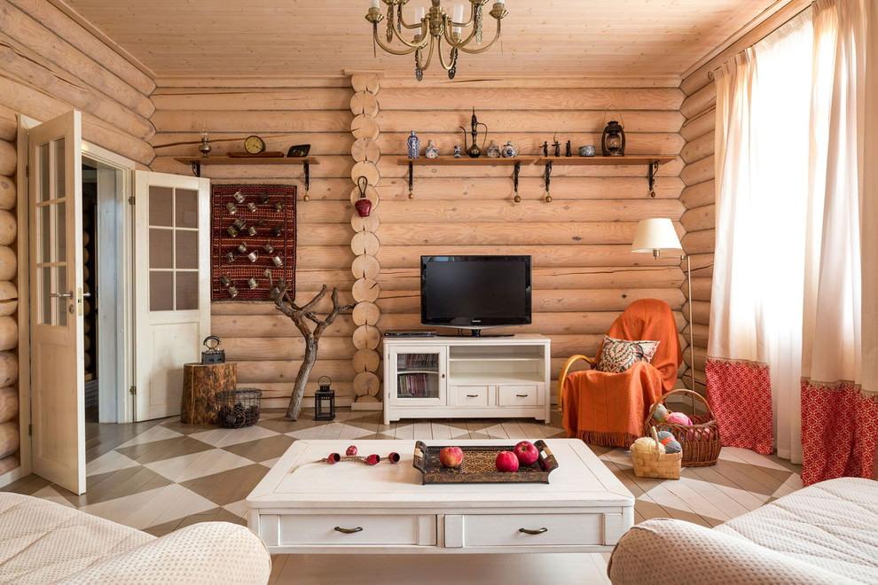 дачный интерьер дома