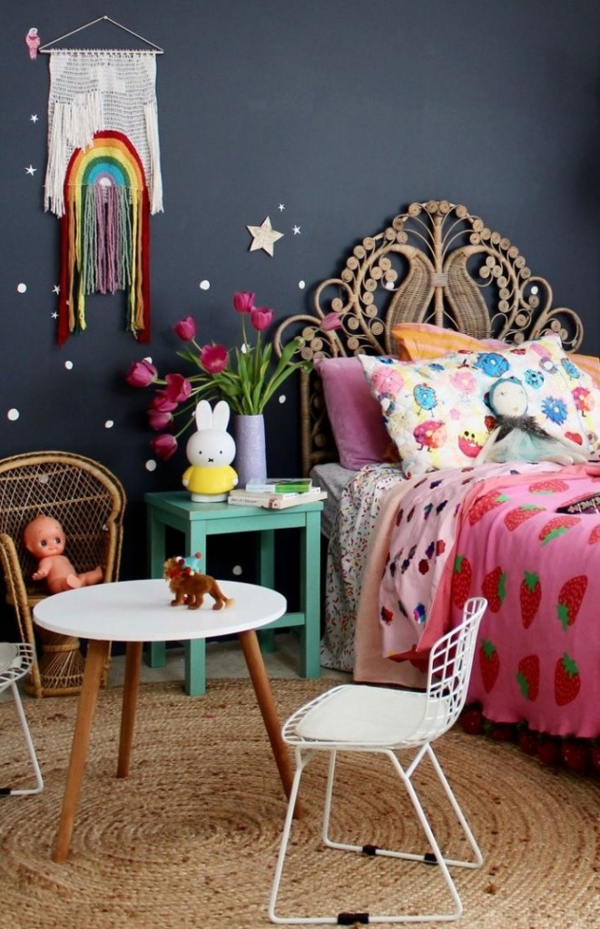 Декорирование детской комнаты для маленькой девочки