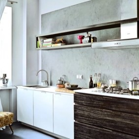 декоративная штукатурка на кухне идеи интерьера