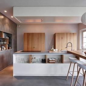 декоративная штукатурка на кухне виды дизайна