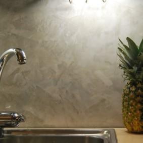 декоративная штукатурка на кухне дизайн идеи