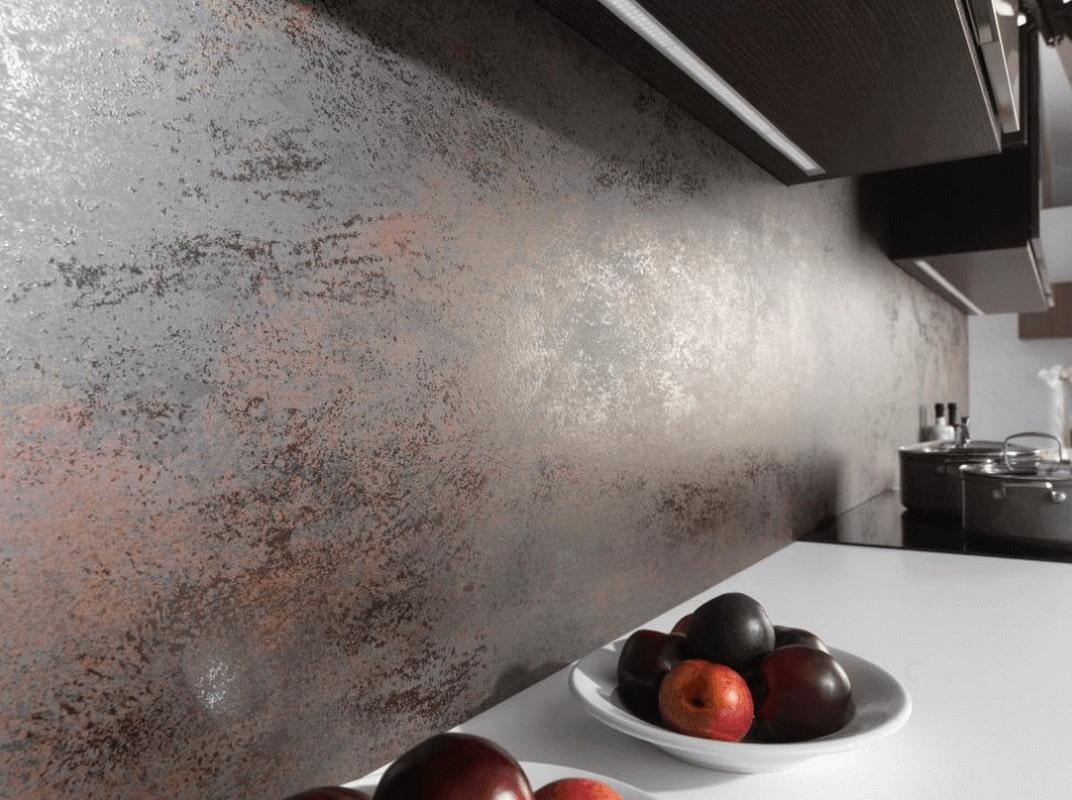 декоративная штукатурка на кухне дизайн фото
