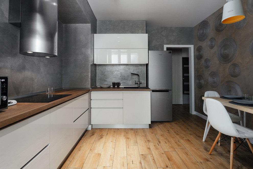 декоративная штукатурка на кухне интерьер фото