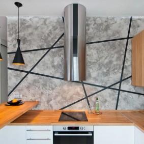 декоративная штукатурка на кухне оформление