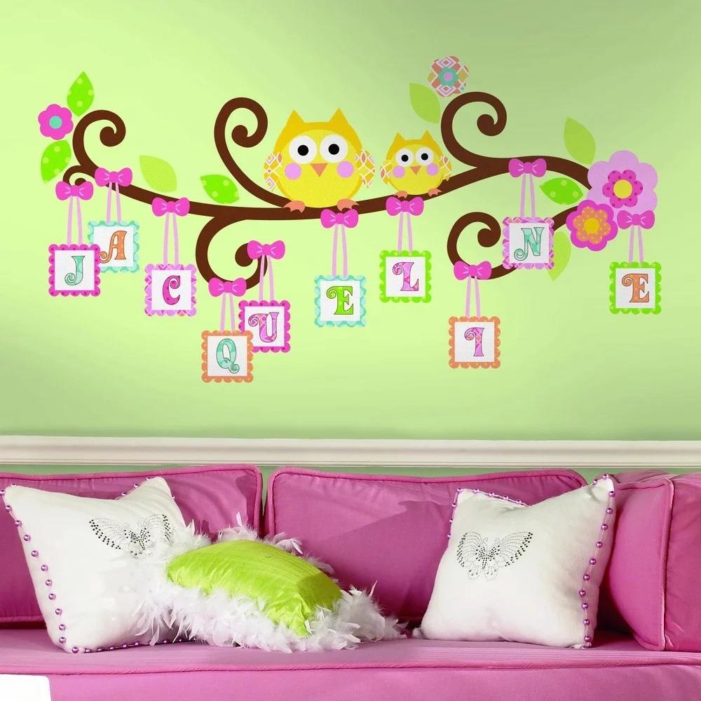 декоративные наклейки на стене в детской