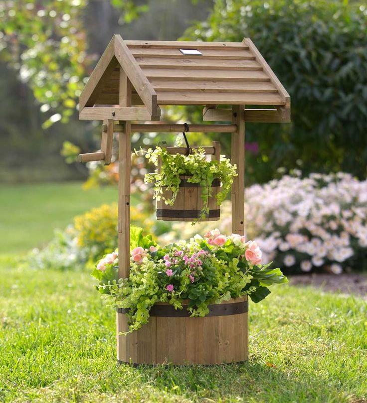 Садовая клумба в форме колодца своими руками