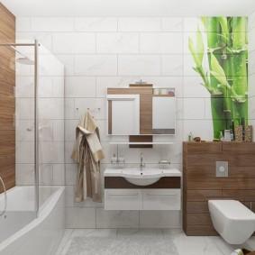 ванная комната 2019 с деревом
