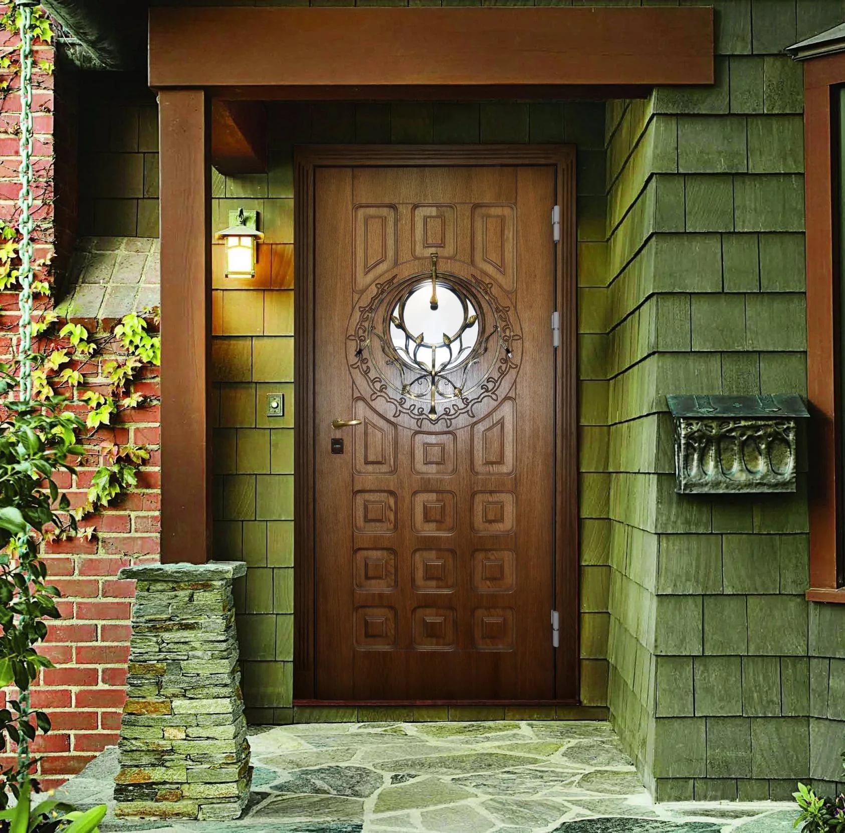 деревянная входная дверь дизайн