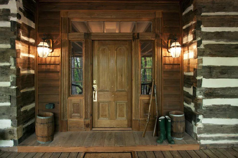деревянная входная дверь идеи дизайна