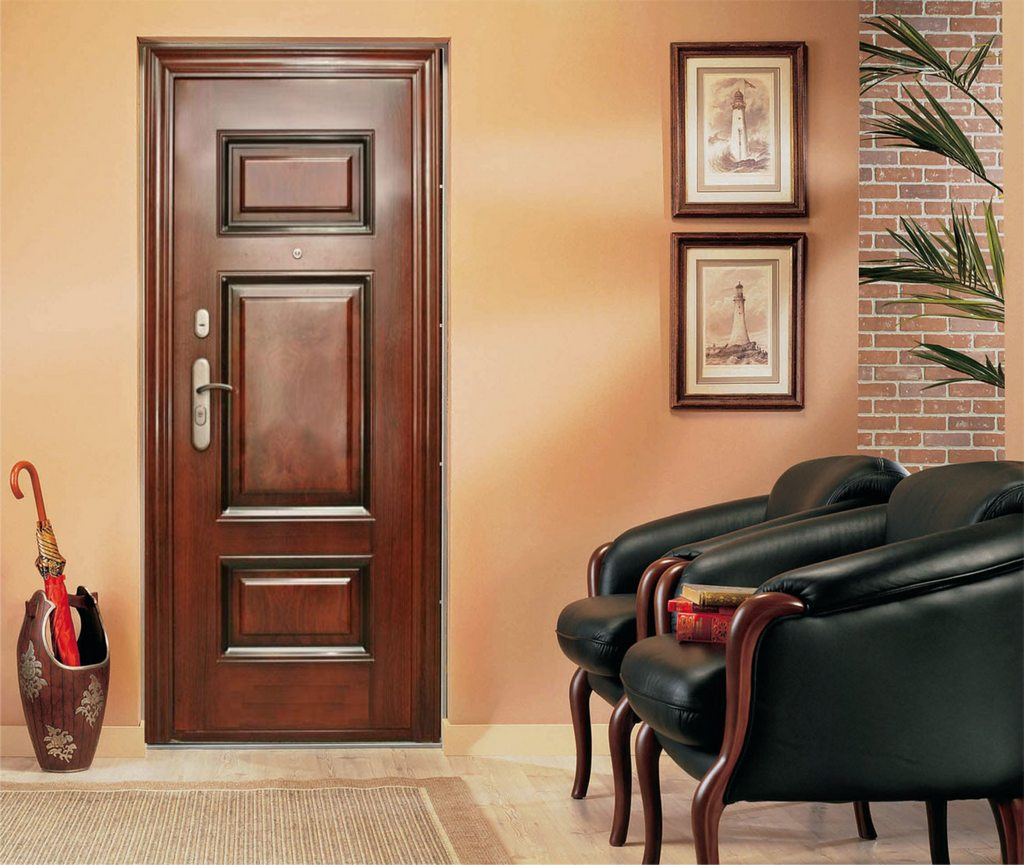 деревянная входная дверь идеи