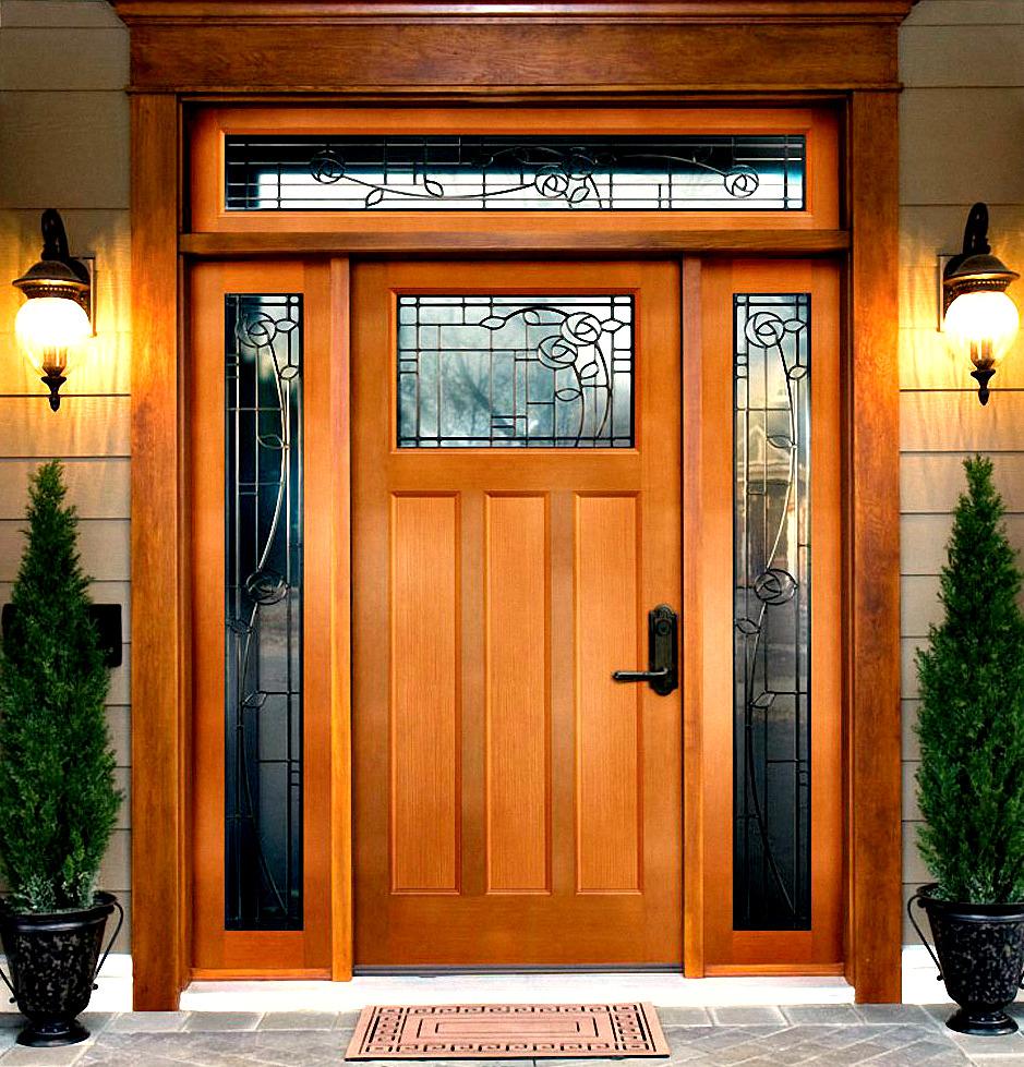 деревянная входная дверь из бука