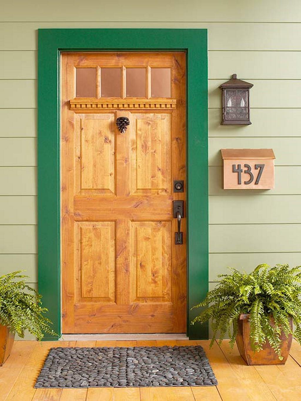 деревянная входная дверь одностворчатая