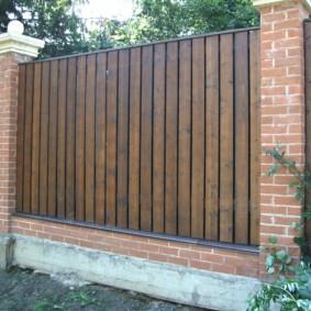 деревянный забор для участка идеи дизайн
