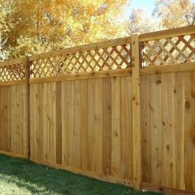 деревянный забор для участка идеи дизайна