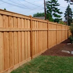 деревянный забор для участка фото декор