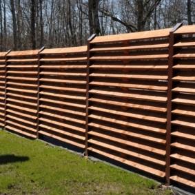 деревянный забор для участка фото декора