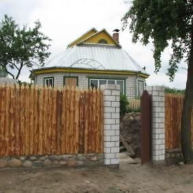 деревянный забор для участка идеи декор