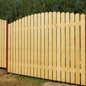 деревянный забор для участка идеи