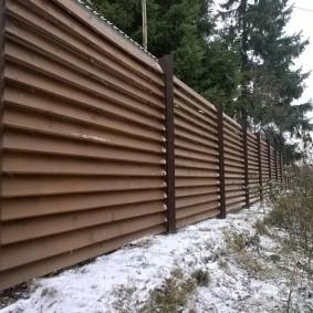 деревянный забор для участка оформление фото