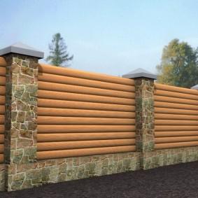 деревянный забор для участка варианты