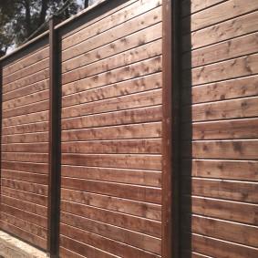 деревянный забор для участка фото варианты