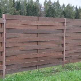 деревянный забор для участка идеи фото