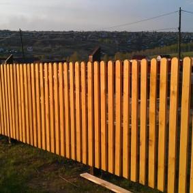 деревянный забор для участка фото вариантов