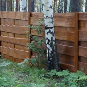деревянный забор для участка варианты идеи