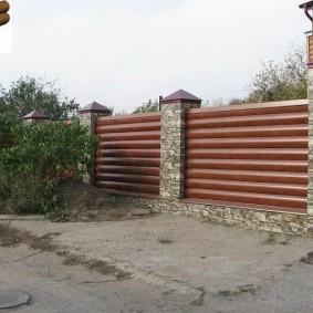 деревянный забор для участка идеи варианты