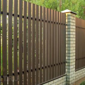 деревянный забор для участка виды